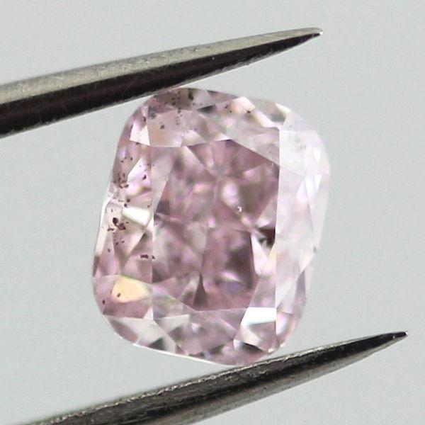 Fancy Pink Purple Diamond, Cushion, 0.53 carat, SI2