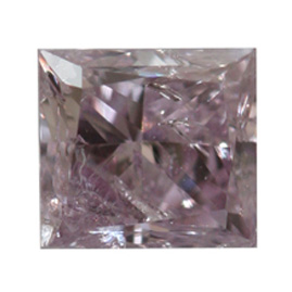 Fancy Pink Purple Diamond, Princess, 0.45 carat- C