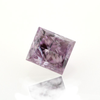 Fancy Pink Purple Diamond, Princess, 0.45 carat
