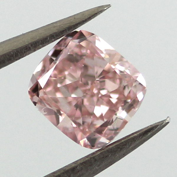 Fancy Pink Diamond, Cushion, 0.46 carat, SI2