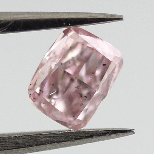 Fancy Pink Diamond, Cushion, 0.24 carat, SI2