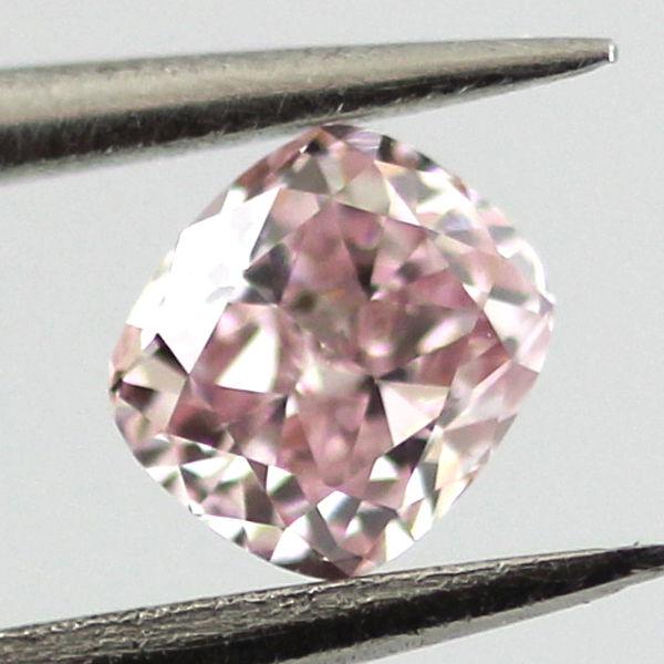 Fancy Pink Diamond, Cushion, 0.16 carat, VS1
