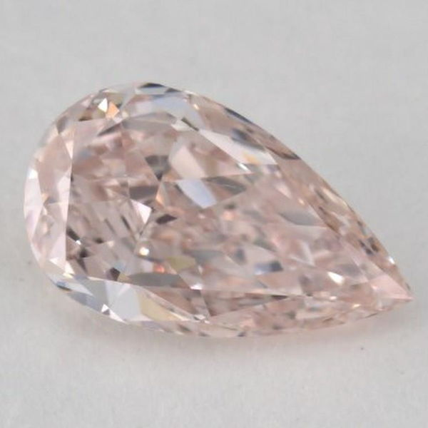 Fancy Pink Diamond, Pear, 0.73 carat, SI2