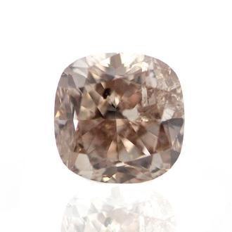 Fancy Pinkish Brown Diamond, Cushion, 1.10 carat