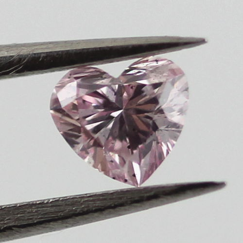 Fancy Purple Pink Argyle Diamond, Heart, 0.19 carat, SI2