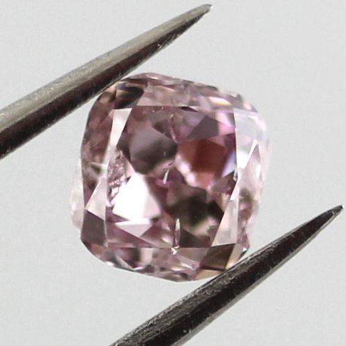 Fancy Purple Pink Diamond, Cushion, 0.40 carat