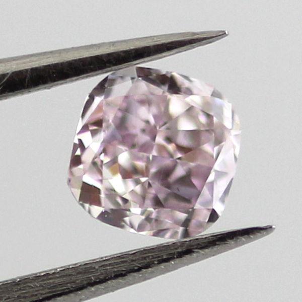 Fancy Purple Pink Diamond, Cushion, 0.28 carat, VS1