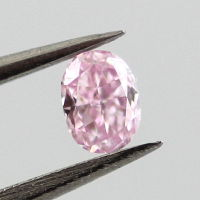 Fancy Purple Pink Diamond, Oval, 0.10 carat