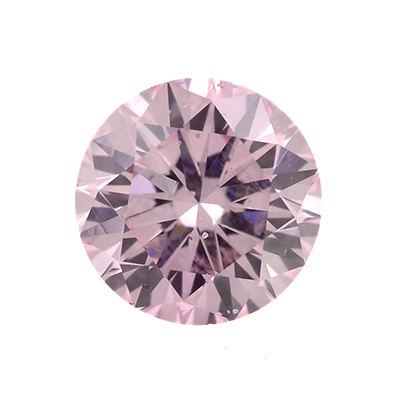 Fancy Purplish Pink Argyle Diamond, Round, 0.28 carat, SI1