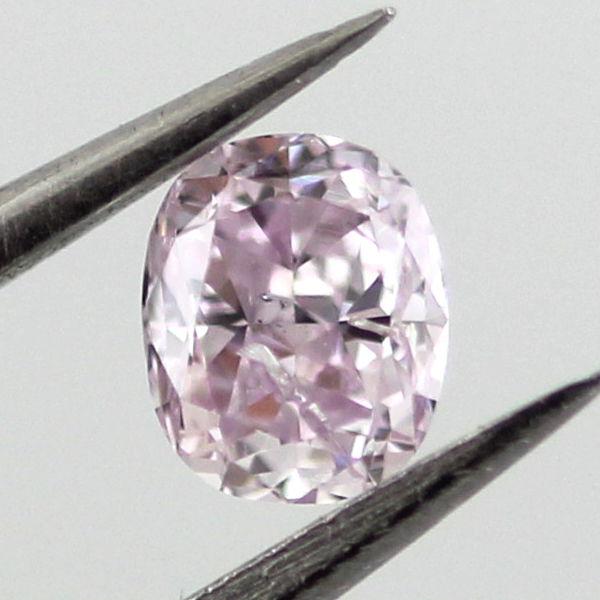 Fancy Purplish Pink Diamond, Oval, 0.22 carat