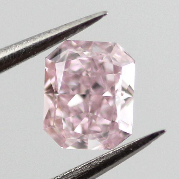 Fancy Purplish Pink Diamond, Radiant, 0.30 carat, SI1