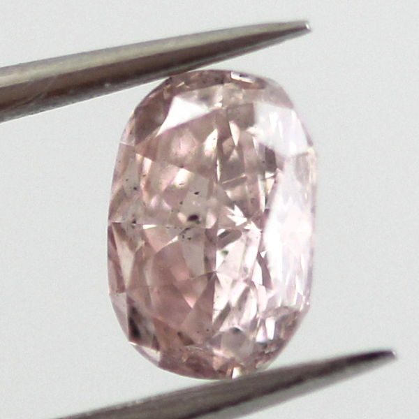 Fancy Purplish Pink Diamond, Cushion, 0.51 carat, SI2 - B