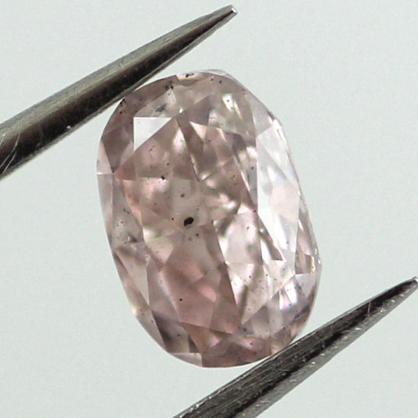 Fancy Purplish Pink Diamond, Cushion, 0.51 carat, SI2