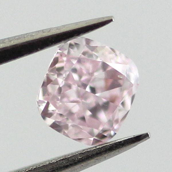 Fancy Purplish Pink Diamond, Cushion, 0.25 carat, SI1