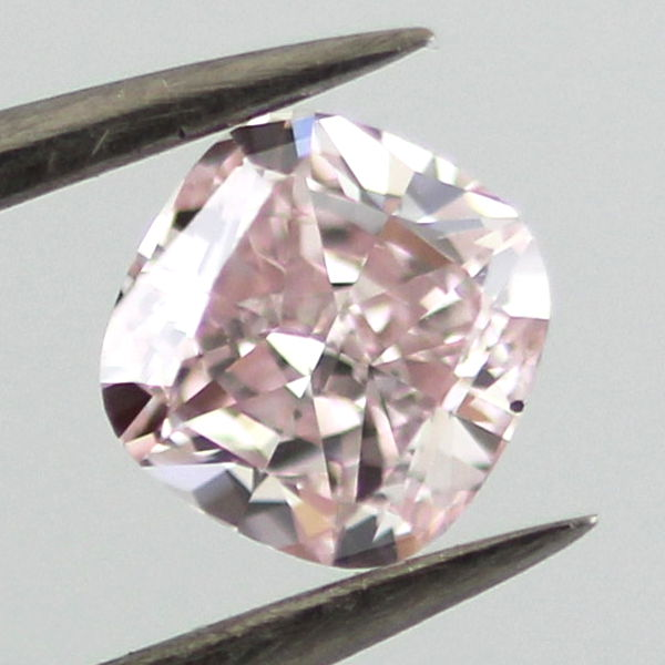 Fancy Purplish Pink Diamond, Cushion, 0.55 carat, SI1