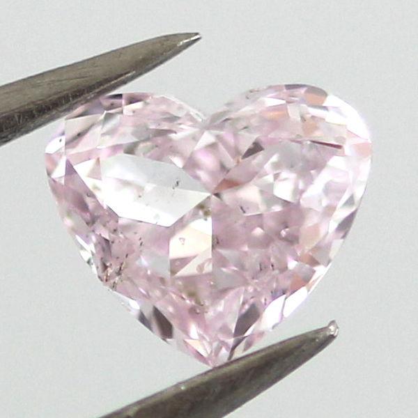 Fancy Purplish Pink Diamond, Heart, 0.37 carat, SI2