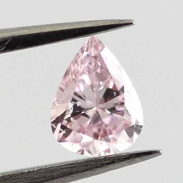 Fancy Purplish Pink Diamond, Pear, 0.19 carat, I1