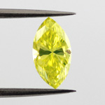 Fancy Vivid Greenish Yellow, 0.60ct, VS2