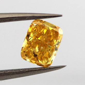 Fancy Vivid Orange Yellow, 0.68 carat