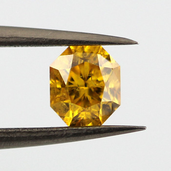 Fancy Vivid Orange Yellow, 0.60 carat