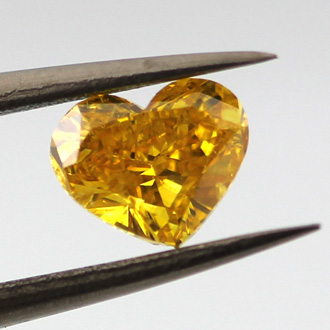 Fancy Vivid Orangy Yellow, 0.74 carat