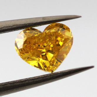 Fancy Vivid Orangy Yellow, 0.74 carat