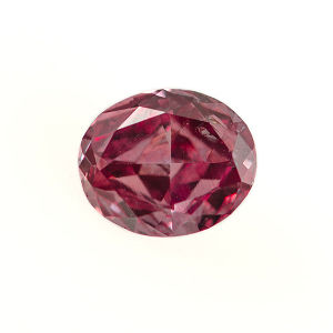 GIA Oval Fancy Vivid Pink Diamond, 0.12 carat