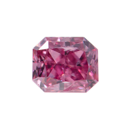 Fancy Vivid Purplish Pink Diamond, Radiant, 0.08 carat