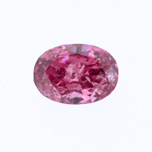 Fancy Vivid Purplish Pink Diamond, Oval, 0.11 carat