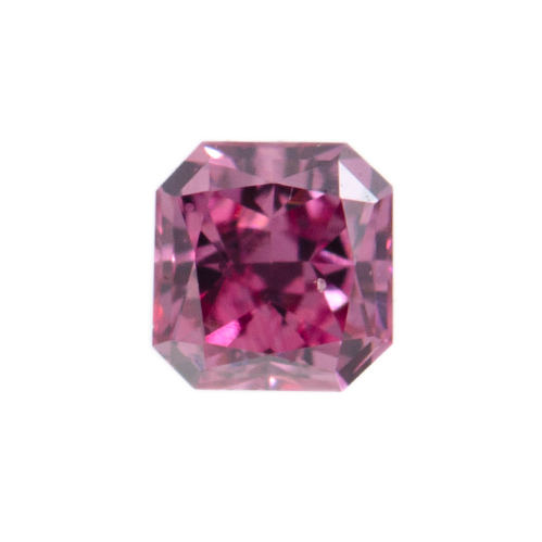 Fancy Vivid Purplish Pink Diamond, Radiant, 0.07 carat