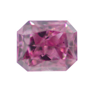 GIA Radiant Fancy Vivid Purplish Pink Diamond, 0.11 carat