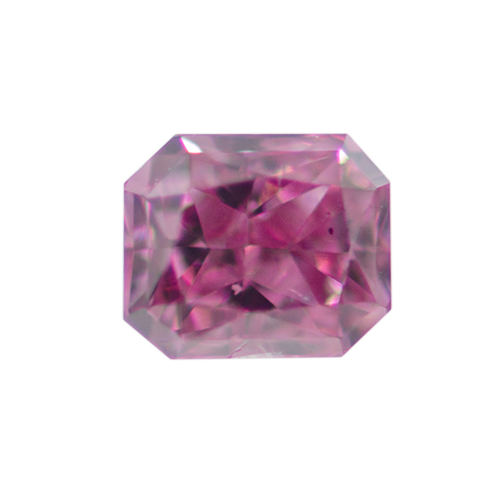 Fancy Vivid Purplish Pink Diamond, Radiant, 0.11 carat