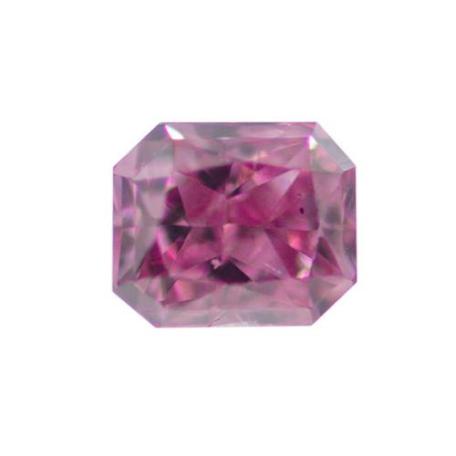 Fancy Vivid Purplish Pink Diamond, Radiant, 0.11 carat
