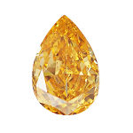 Fancy Vivid Yellow Orange, 0.37 carat, SI2