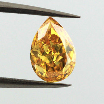 Fancy Vivid Yellow Orange, 1.01 carat, SI2