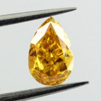 Fancy Vivid Yellow Orange, 0.58 carat, SI1