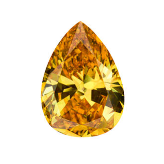 Fancy Vivid Yellow Orange Diamond, Pear, 1.01 carat, SI1