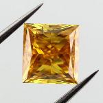 Fancy Vivid Yellow Orange, 1.09 carat, SI1
