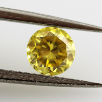 Fancy Vivid Yellow, 0.30 carat