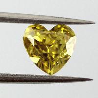 Fancy Vivid Yellow, 0.57 carat, SI2