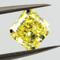 Fancy Vivid Yellow, 1.50 carat, SI2