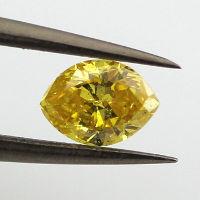Fancy Vivid Yellow, 0.40 carat