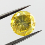 Fancy Vivid Yellow, 0.77 carat