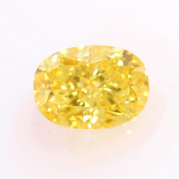 Fancy Vivid Yellow Diamond, Oval, 1.39 carat, VS1