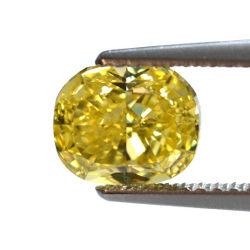 Fancy Vivid Yellow, 1.51 carat, VS2