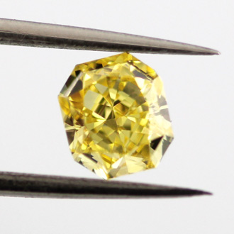 Fancy Vivid Yellow, 0.74 carat, VVS2