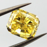 Fancy Vivid Yellow, 1.54 carat, SI1