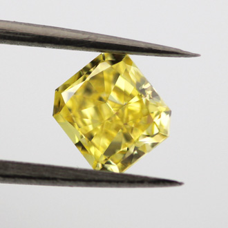 Fancy Vivid Yellow, 0.72 carat, VS1