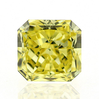 Fancy Vivid Yellow, 0.55 carat, VVS2