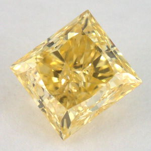 Fancy Vivid Yellow Diamond, Princess, 1.11 carat, SI1